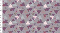 French Terry Brushed Girly Triangles 4470