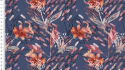 Jersey digital colored flowers 4718