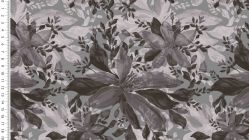 Viscose digital watercolor flower 4736