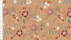 French Terry brushed digital olly flowers 4748